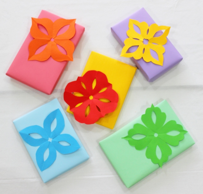 Kirigami Embellishments for gifts